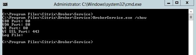Change xml broker citrix