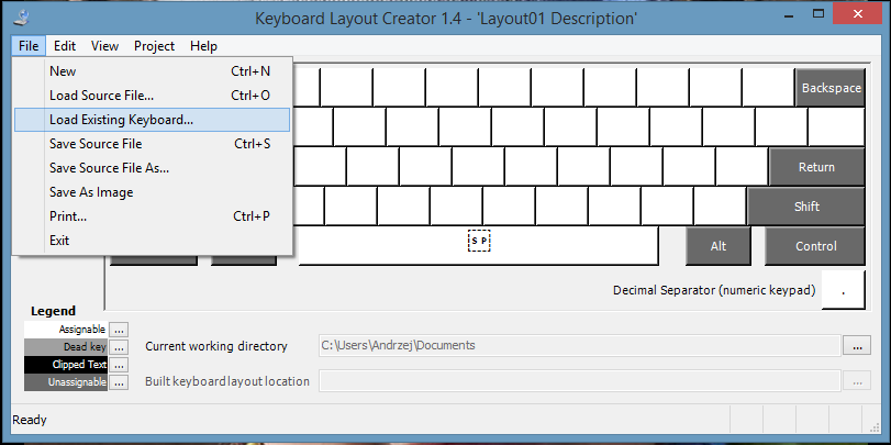 How to modify standard keyboard layout ? - citrix24 com