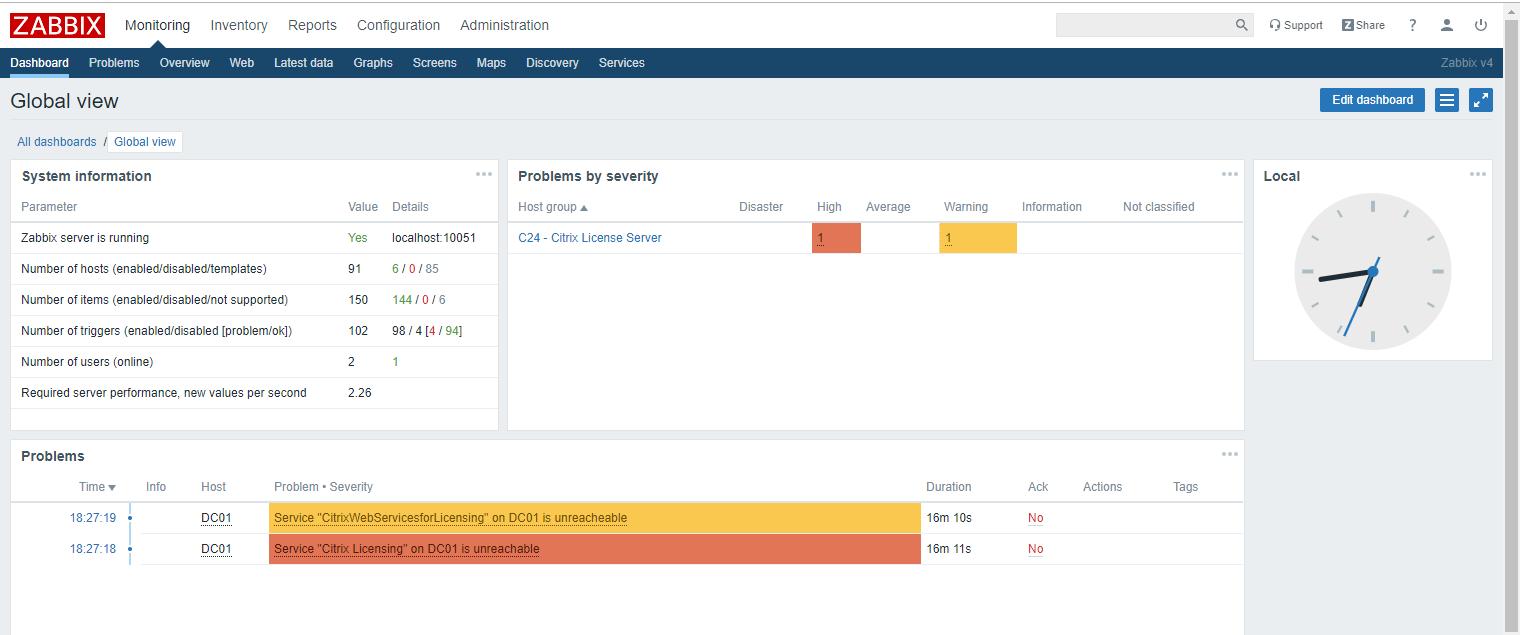 Zabbix Monitor Custom Service
